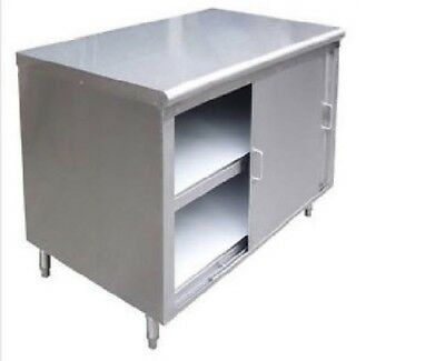 All Stainless Steel 24x60 Commercial Storage Dish Cabinet W Sliding Doors Nsf
