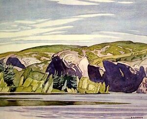 "A.J. Casson ""Summer Lake Mazinaw"" Lithograph - Appraised at $500"