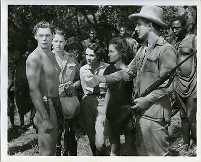 Johnny Weismuller Maureen O'Sullivan Tarzan the Apeman original scene still