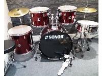 Sonor 507 5pc Drum Kit. Excellent Condition.
