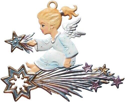 "WILHELM SCHWEIZER GERMAN ZINNFIGUREN Angel on a Shooting Star (3"" High)"