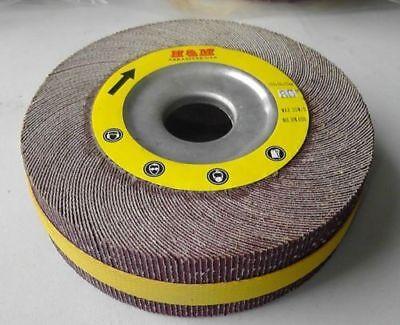 10pcs 8-in Flap Sanding Wheels 8 X 1 X 1 Ao 180 Grit Unmounted - Wholesale