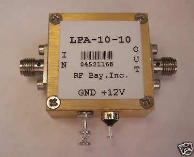 100mhz-10ghz Wideband Rf Amplifier Lpa-10-10 New Sma