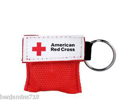 (American Red Cross Mini CPR Keychain Mask / Face Shield Barrier Kit)
