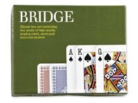 Piatnik Bridge Card Set -2Pack for 4 Players - New- Unopened Cards