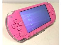 psp pink 1003 with 32gb memory & 200 games
