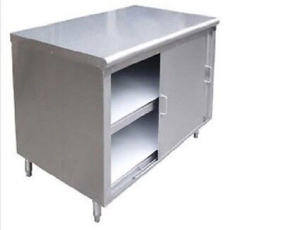 All Stainless Steel 24 X 36 Dish Cabinet Storage W Sliding Doors Nsf