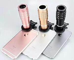 iPhone And All AndroidPICKOGEN 12X Zoom Mobile Phone Clip-on Telephoto Camera Lens  high quality.