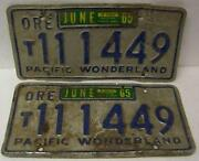 Vintage Oregon License Plate