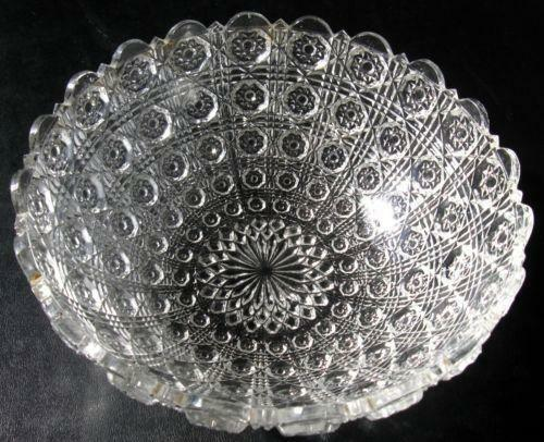 Antique Clear Glass Bowl Ebay