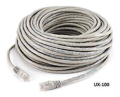 100ft CAT5e Cross-Over LAN Ethernet RJ45 UTP Network Patch Cable, Grey - UX-100 Cat5 Utp Crossover Patch Cable