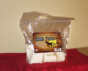 Amish Farms Handmade Hand Made Bar Soap 100 Natural USA 5 Bars