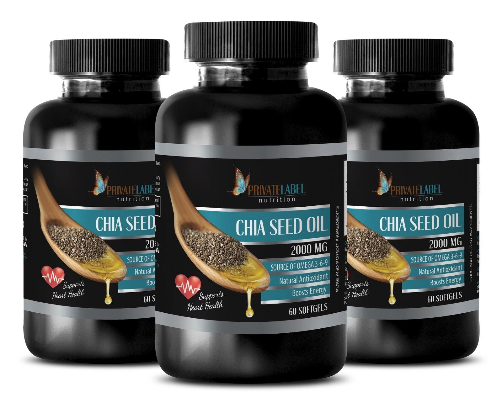 Energy Booster Pills For Women - Chia Seed Oil 2000mg 3b ...