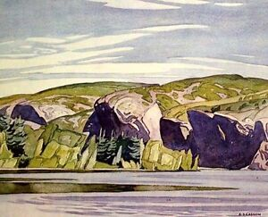 """""""Summer Lake Mazinaw"""" Litho by A.J. Casson appraised at $500"""