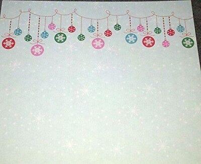 12x12 Paper - Snowflake Ornaments - 3Pcs
