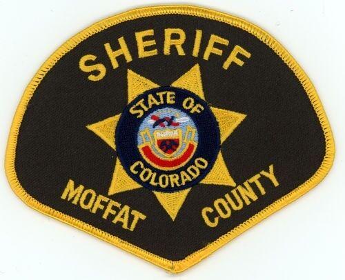 MOFFAT COUNTY SHERIFF COLORADO CO COLORFUL PATCH POLICE