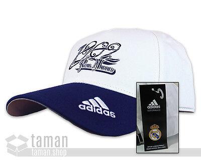 ADIDAS PERFORMANCE REAL MADRID CLUB Baseball Capy Cap Kappe Mütze Blau-Weiß NEU