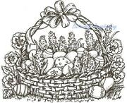 Basket Rubber Stamp