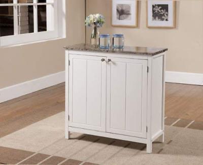Kitchen Island Bathroom Storage Cabinet White Marble Top Storage Organizer Space (Marble Top Kitchen Island)