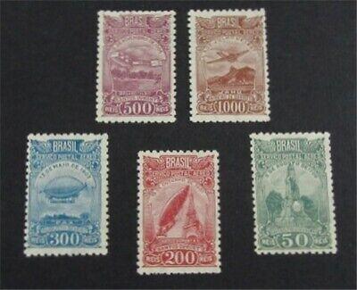 nystamps Brazil Stamp # C32-C36 Mint OG H $29   L23y170