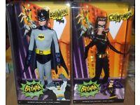 Set of 2 Classic TV Series Dolls Batman & Catwoman NRFB 2013 Barbie Collector