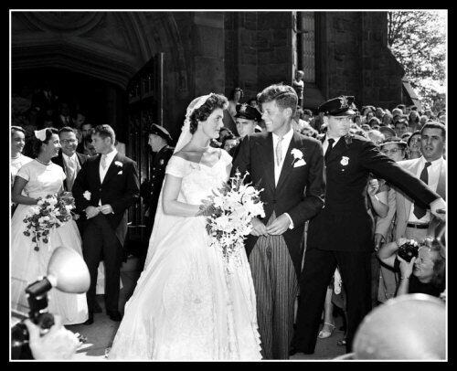 John Kennedy & Jackie Photo 8X10 - Wedding  Day 1953   Buy Any 2 Get 1 FREE