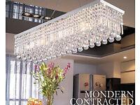 Luxury Rain Drop Rectangle Clear K9 Crystal Chandelier