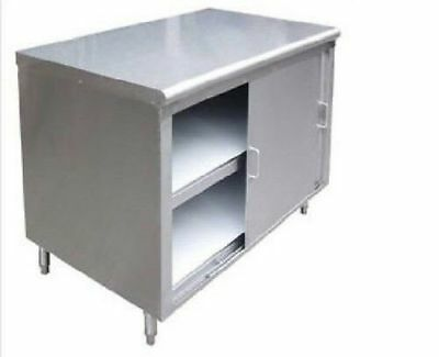 All Stainless Steel 24x30 Commercial Storage Dish Cabinet W Sliding Doors Nsf