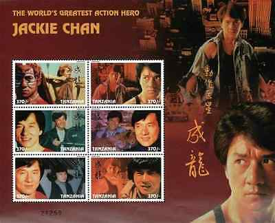 Tanzania Jackie Chan The World's Greatest Action Hero Stamp Sheet of 6 Stamps
