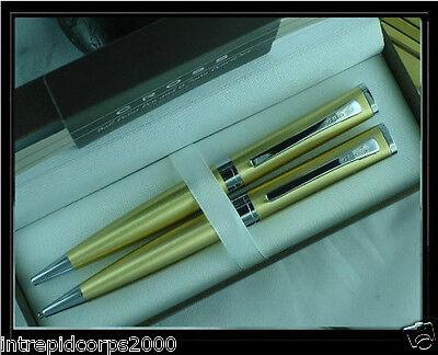 Gold Sage Cross (Cross Limited Edition Elite Sage Pearlescent Golden Honey Pen & 0.7MM Pencil)