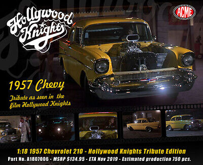"PREORDER ACME A1807006 1:18 1957 CHEVROLET 210 ""HOLLYWOOD KNIGHTS"""
