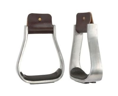Barrel Racing Aluminum Saddle Stirrups with Rubber Pad - Free Shipping