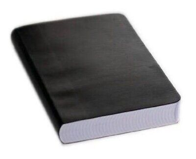 Miquelrius Leather Look Soft Bound Notebook 6x8 Black Graph 300 Sheets