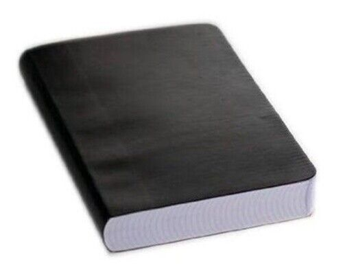 Miquelrius Leather Look Soft Bound Notebook 6x8, Black Graph, 300 Sheets