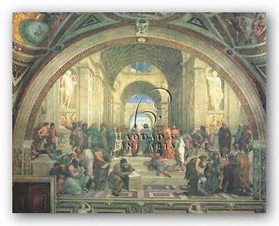 MUSEUM ART PRINT School of Athens Raphael Raffaello 21.25x17