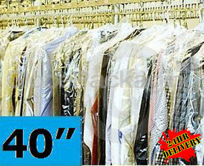 200 QUALITY POLYTHENE GARMENT CLOTHES COVERS BAGS 40