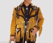 Mens Suede Fringe Jacket