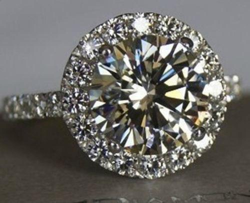 Silver Diamond Rings Ebay
