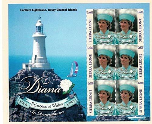 VINTAGE CLASSICS - Sierra Leone 9831 Princess Diana - Set Of 6 Stamps - MNH - $0.89