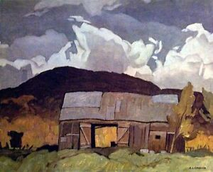 """A.J. Casson """"Barn at Pointe au Chene"""" Litho - Appraised at $600"""
