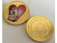 Sexy Beauty Coins Poker Card-guard Protects The Cards In Your Hand Souvenir Coin