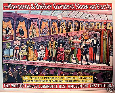 1960 Barnum & Bailey Circus World Museum Old Poster