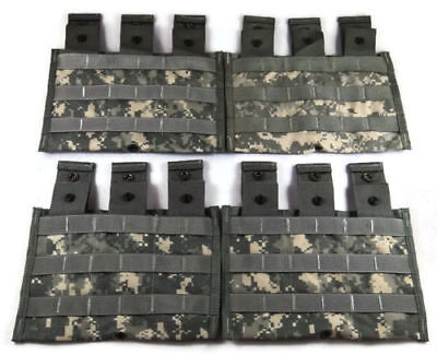 Lot of 5 Triple Mag Pouches ACU - Molle II 3 Magazine Shingle Pouch - US Army