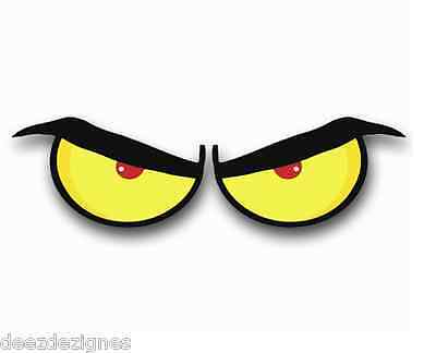 Eyeball Stickers ANGRY Decals 1 set pick a size width for each single eye
