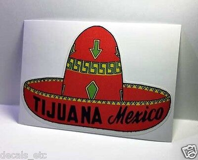 Tijuana Mexico Vintage Style Travel Decal / Vinyl Sticker, Luggage Label