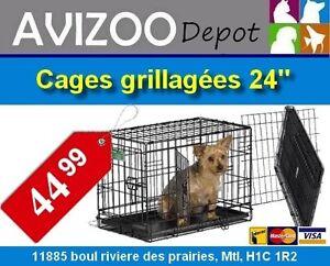 CAGE POUR CHIENS NEUVE 24X17X19 - 44.99$