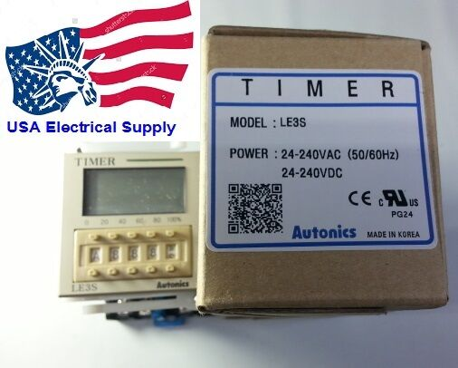 LE3S Autonics Timer With 8Pin Socket Base