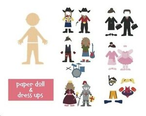 QuicKutz TWO 4 x 4 Paper Doll Costumes metal dies- $15