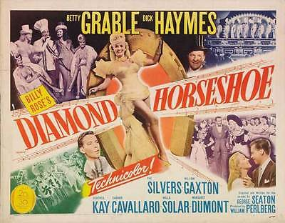 DIAMOND HORSESHOE Movie POSTER 22x28 Half Sheet Betty Grable Dick Haymes Phil