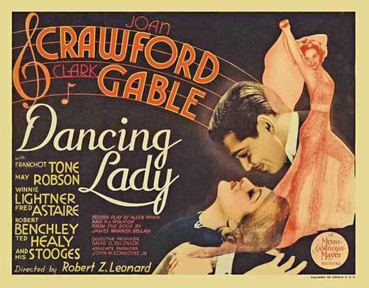 DANCING LADY Movie POSTER 22x28 Half Sheet B Joan Crawford Clark Gable Franchot
